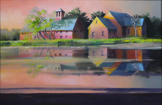 Late Afternoon Reflection oil on panel by Paul Stone artist